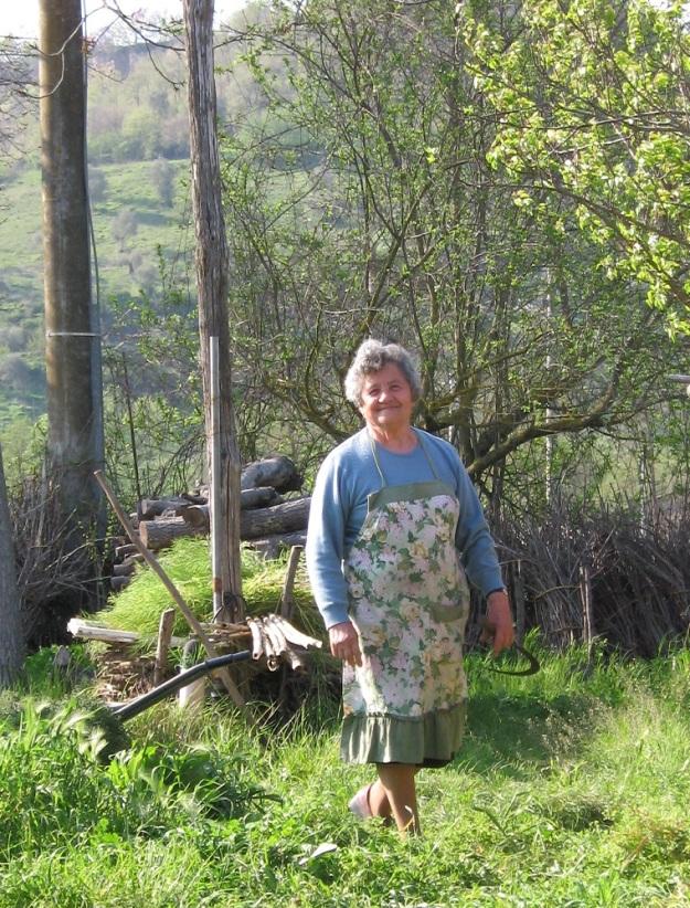 Signora Giuseppa in her Garden