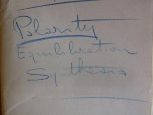 Assagioli's notes on polarities.