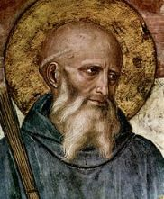 St. Benedict fresco by Fra Angelico