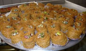 Konafa, Egyptian sweets. Photo by B. Simpson