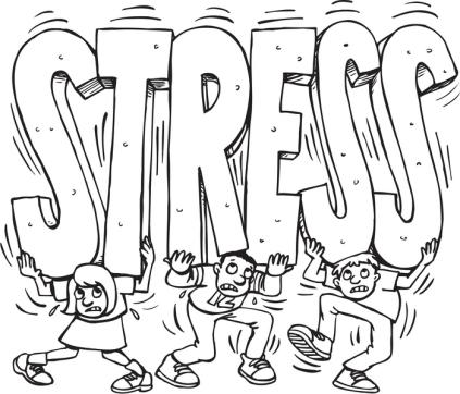 Under stress cartoon