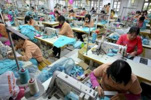 Women work at Hanoi Textile-Garment Company factory in Vietnam. From neurope.eu
