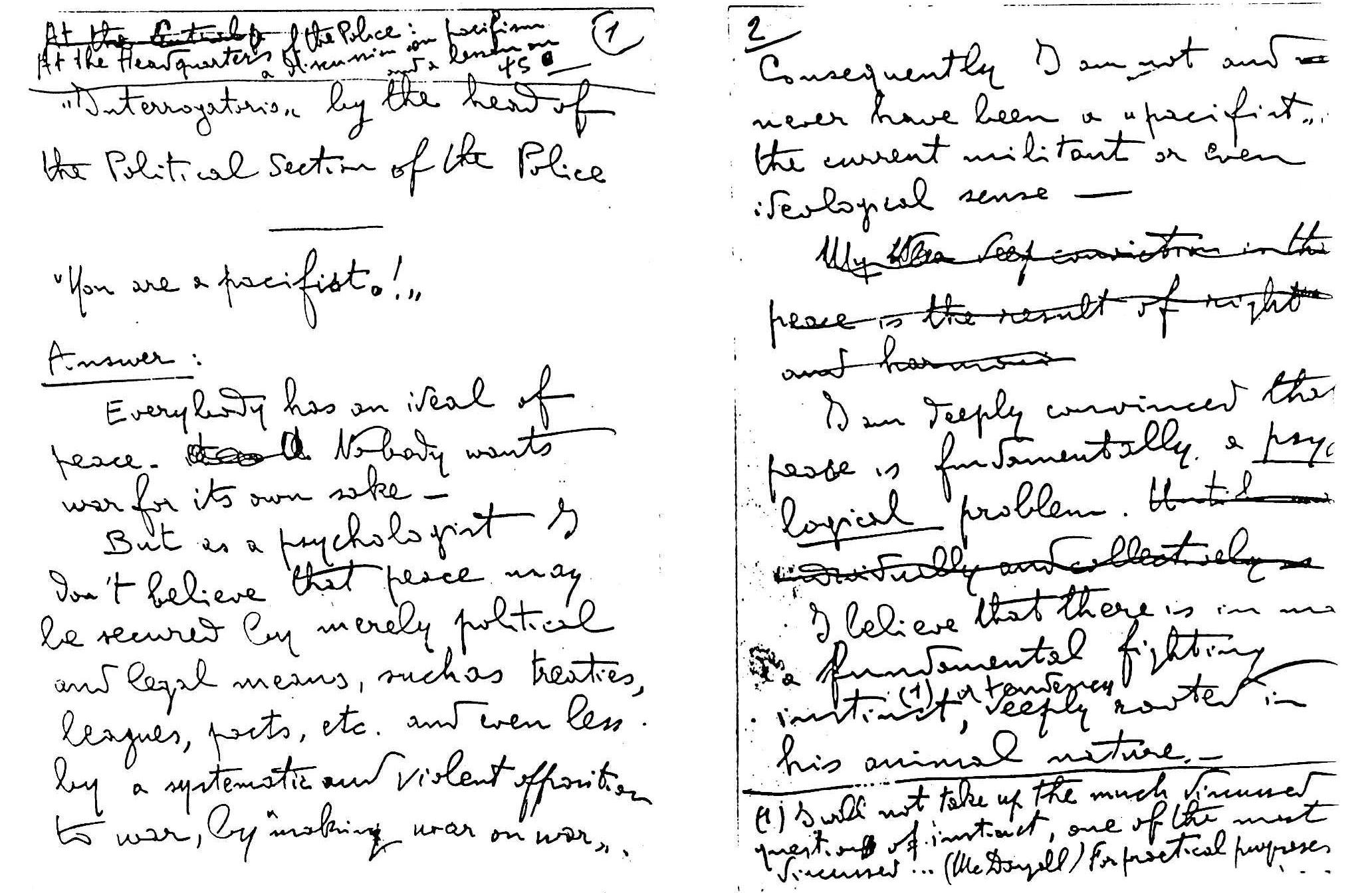 Assagiolis writing about jail
