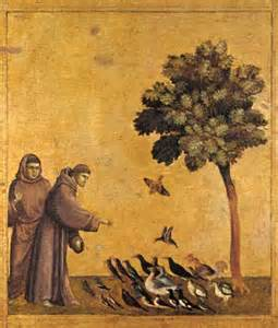 Saint Francis preaching to the birds.