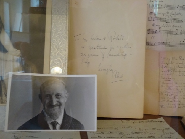 Photo of Assagioli in glass case