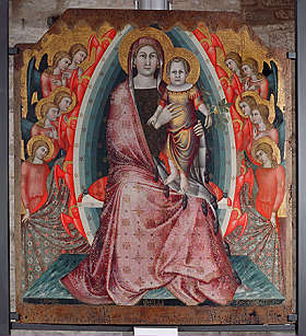 Maria and Child by Mello da Gubbio Pala di Agnano