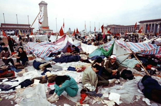 Students at Tiananmen Square