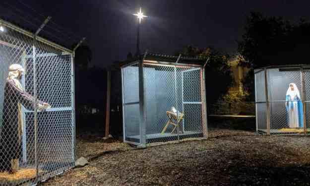 Claremont United methodist Church caged jesus